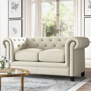 Andre Chesterfield 67 Rolled Arm Loveseat