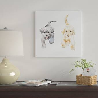 East Urban Home 'Sweet Puppy Dog' Graphic Art Print on