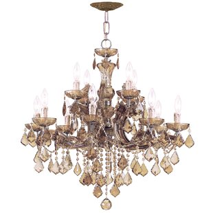 House of Hampton Milan 12-Light Candle Style Chandelier