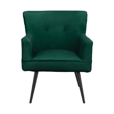 Tapered Legs Accent Chair Dark Teal Decor+