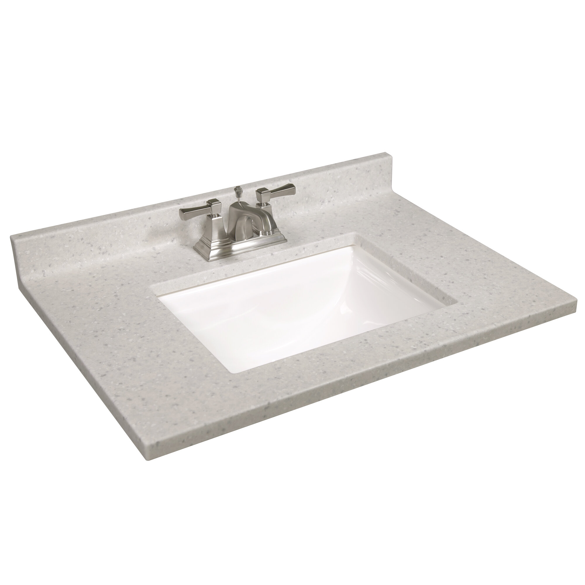 Design House 31 In W Cultured Marble Vanity Top In Frost With Solid White Basin And 4 In Faucet Spread