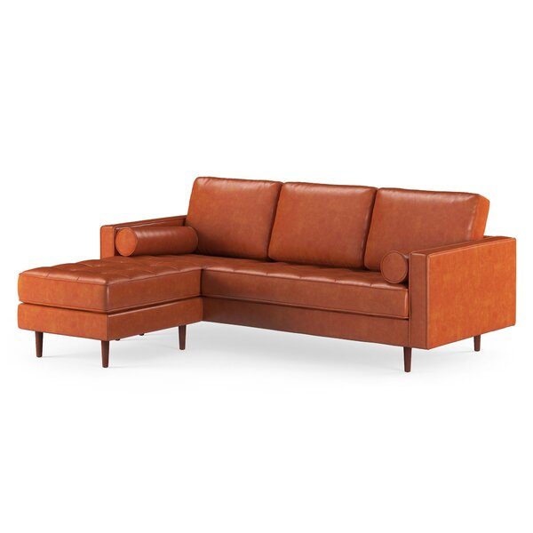 Bombay Leather Reversible Modular Sectional with Ottoman