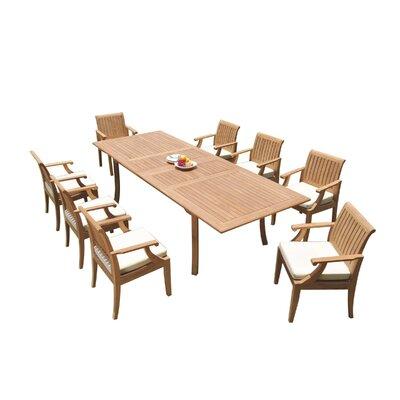 Java 9 Piece Teak Dining Set by Rosecliff Heights Wonderful