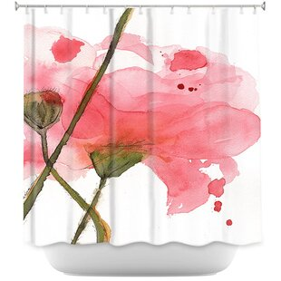 Lueras Corral Poppies Single Shower Curtain