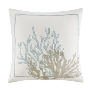 Cannon Beach Embroidered 100% Cotton Decorative Pillow