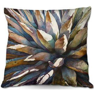 Sunstruck Yucca Plant Throw Pillow
