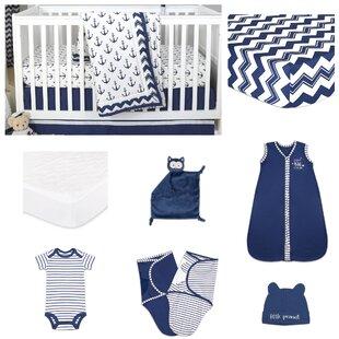 Check Prices Sail Away Essentials 11 Piece Crib Bedding Set ByThe Peanut Shell