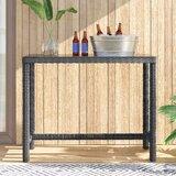 Alaia Glass  Bar Table