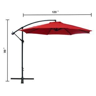 Driskill Hanging Patio 10' Cantilever Umbrella by Charlton Home
