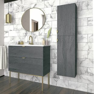 Woodmore Modern 1016mm Free-standing Single Vanity Unit By Ebern Designs