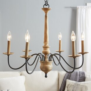 Candle chandeliers youll love wayfair edson 6 light candle style chandelier mozeypictures Choice Image