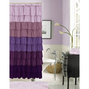 Poitras New Ruffled Shower Curtain By Latitude Run