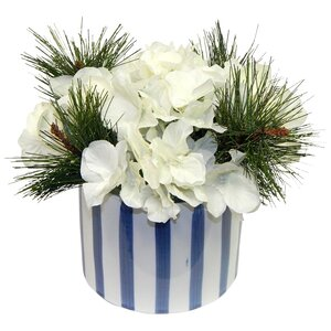 White Christmas Hydrangea Arrangement