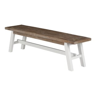 Wood Bench By August Grove
