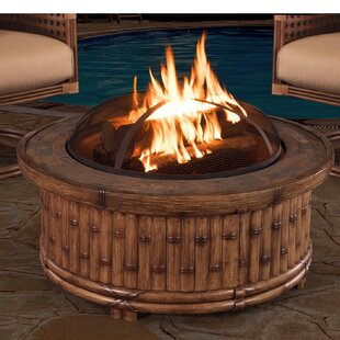 Tecumseh Aluminum Wood Burning Fire Pit Table by Sunjoy Best