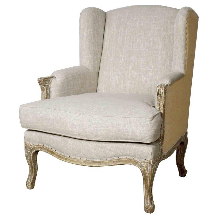 Rotan 32'' Wide Down Cushion Wingback Chair