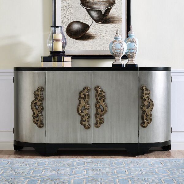 Bloomsbury Market Elderton Two Tone Breakfront 4 Door Credenza & Reviews by Bloomsbury Market
