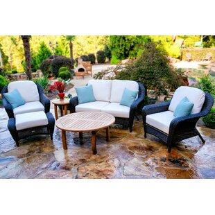 Fleischmann 6 Piece Sunbrella Sofa Set with Cushions by Darby Home Co