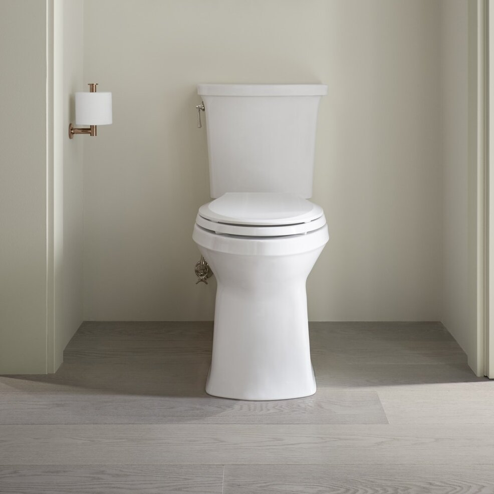 Exceptionnel K 3814 0 Kohler Corbelle Comfort Height® Two Piece Elongated 1.28 GPF  Toilet With Skirted Trapway And Revolution 360™ Swirl Flushing Technology  And ...