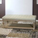 Tubbs 48 Tufted Rectangle Cocktail with Storage Ottoman by One Allium Way®