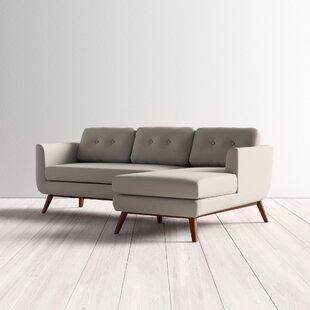 Modern Contemporary Light Grey Sectional Sofa Allmodern