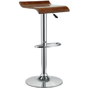 Brighton Adjustable Height Swivel Bar Stool by Wade Logan