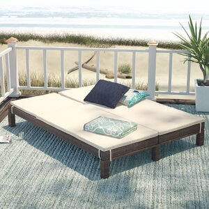 Belleview Wicker Double Chaise Lounge with Cushion