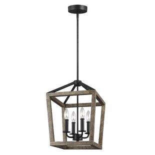 Gracie Oaks Natarsha 4-Light Lantern Pendant