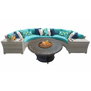 Falmouth 6 Piece Sectional Seating Group with with Sunbrella Cushions