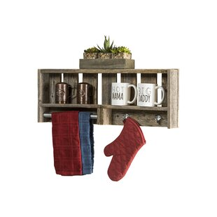 Rabiya Reclaimed Wood Versatile Accent Shelf