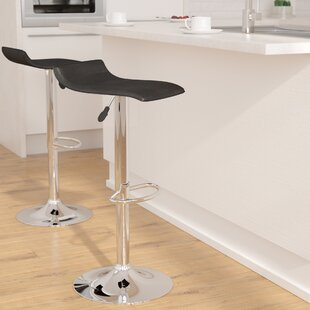Claudine Adjustable Height Swivel Bar Stool (Set of 2)