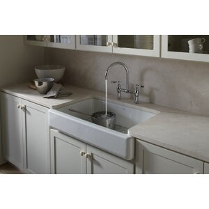 Whitehaven Self-Trimming 35-11/16 x 21-9/16 x 9-5/8 Under-Mount Single-Bowl Kitchen Sink with Sho...