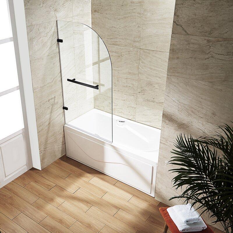 H Hinged Frameless Tub Door
