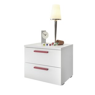 Review Belclaire 2 Drawer Bedside Table (Set Of 2)