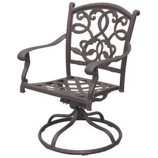 Fleur De Lis Living Windley Swivel Patio Dining Chair with Cushion
