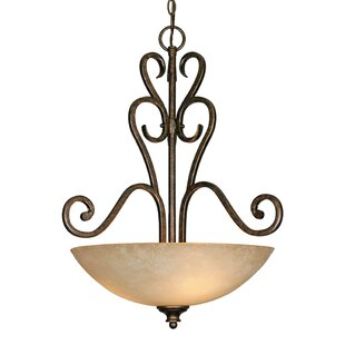 Fleur De Lis Living Elburn 3-Light Bowl Pendant