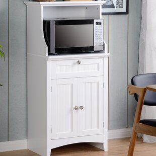 Swanscombe Microwave/Coffee Maker Kitchen Island Highland Dunes