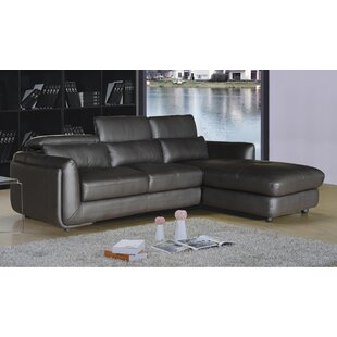 AC Pacific Ron Leather Reclining Sectional