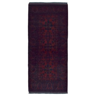 Best Reviews One-of-a-Kind Esperanza Khal Mohammadi Afghan Hand-Woven Wool Runner Red Area Rug By Isabelline