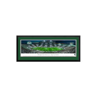 Spartan Stadium 16 x 20 Framed Photo Collage by Legends Never Die Inc. Michigan State University