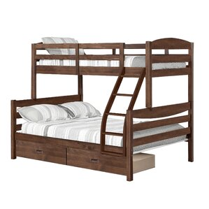 Dendron Twin Over Full Bunk Bed with 2 Drawers by Harriet Bee