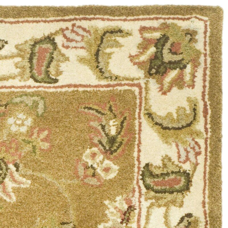 Taylor Persian Inspired Handmade Tufted Wool Mocha Ivory Area Rug Reviews Joss Main