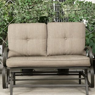 Reculver Patio Wrought Iron Glider Bench by Winston Porter