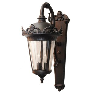 Comparison Sandridge Parisian Elegance 3-Light Outdoor Wall Lantern By Astoria Grand