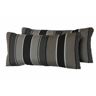 Tommy Mix Stripe Rectangle Outdoor Lumbar Pillow (Set of 2)