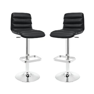 Ripple Adjustable Height Swivel Bar Stool (Set of 2) by Modway