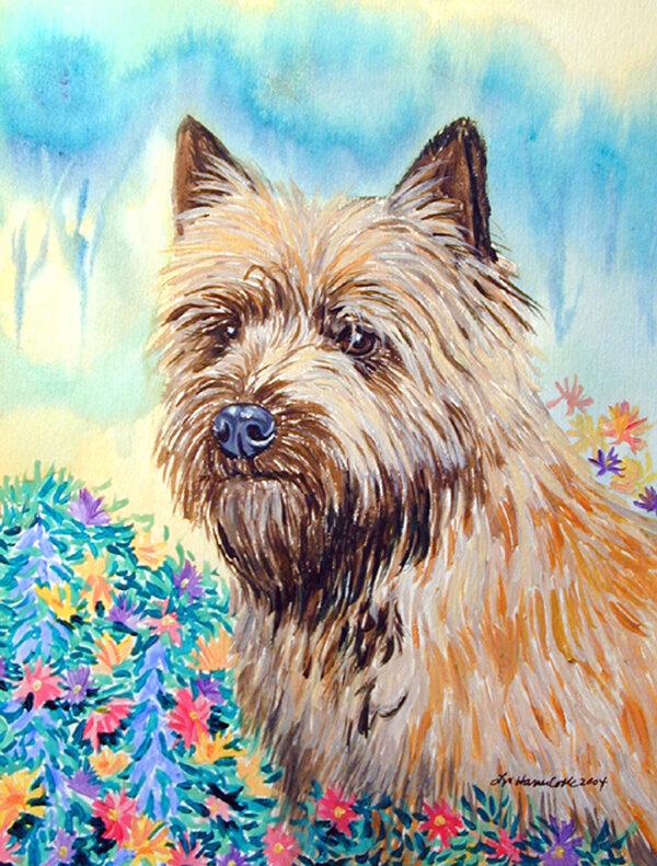 Caroline S Treasures Cairn Terrier 2 Sided Garden Flag Wayfair