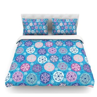 Floral Winter by Julia Grifol Featherweight Duvet Cover