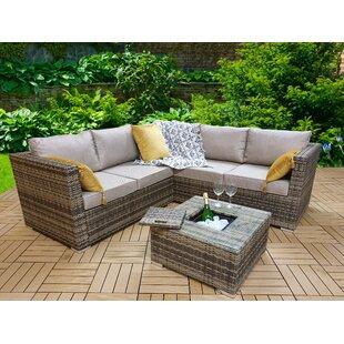 Oryana Garden Corner Sofa With Cushions Image