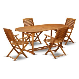 Jagger 5 Piece Patio Dining Set by Longsh..